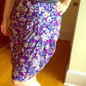 Fei floral blue and purple skirt